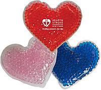 Hot/Cold gel bead packs - large heart, red