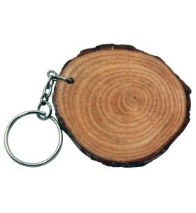 Natural Wood Keychain